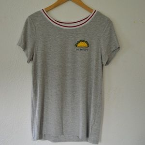 NWOT American Eagle Gray Taco T-shirt